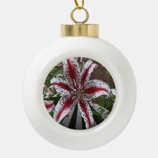 religiöse Ostern-Segenrosa-Orientale-Lilie Keramik Kugel-Ornament