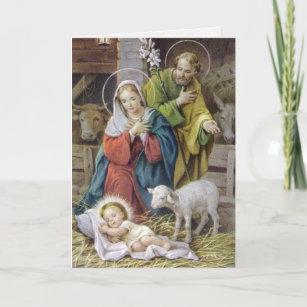 Religiöse Weihnachtskarten.Vintage Geburt Karten Zazzle De