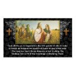 Religiöser Visitenkarteentwurf Jesus-Gottes Visitenkarten Vorlagen