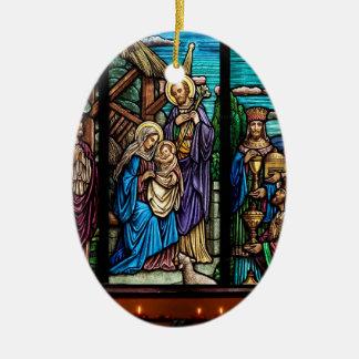 Religiöses Bild für ovale Verzierung Keramik Ornament