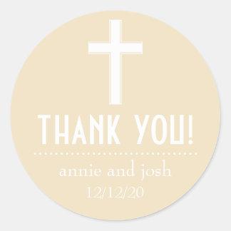 Religiöses Kreuz danken Ihnen Aufkleber