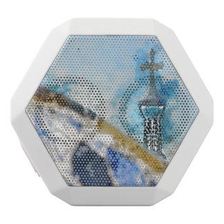 Religiöses Kreuz in Barcelona Spanien Weiße Bluetooth Lautsprecher