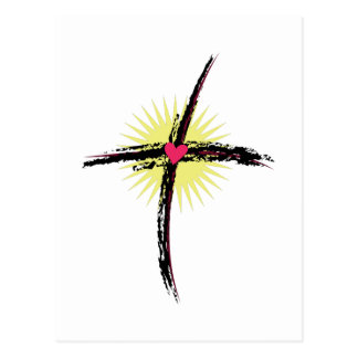 Religiöses Kreuz Postkarte