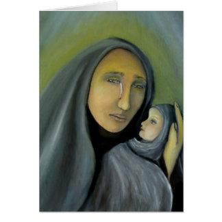 Religiöses Madonna und Kinderweihnachten religiös Karte