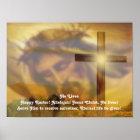 Religiöses Ostern-Plakat - Jesus und Quergold Poster