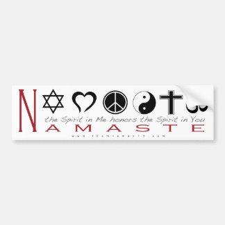 Religiöses Symbol Namaste Autoaufkleber