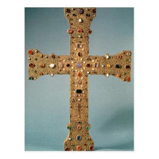 Reliquarykreuz der Abtei von Valesse Postkarte