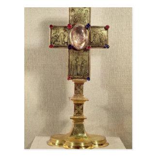 Reliquarykreuz von Papst Urban V 1368-78 Postkarte