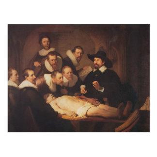 Rembrandt die Anatomie-Lektion von Dr. Nicolaes Postkarte