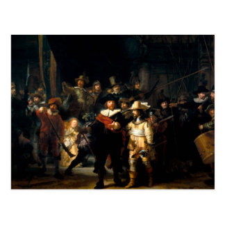 Rembrandt die Nachtwache-Postkarte Postkarte