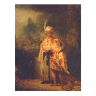 Rembrandt Harmensz. van Rijn Davids Abschied von J Postkarte