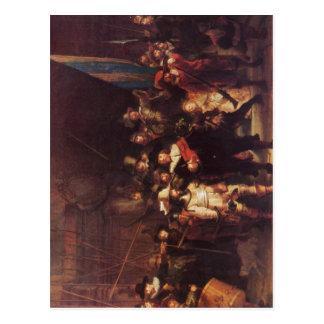 Rembrandt Harmensz. van Rijn Die Nachtwache 1642 T Postkarte