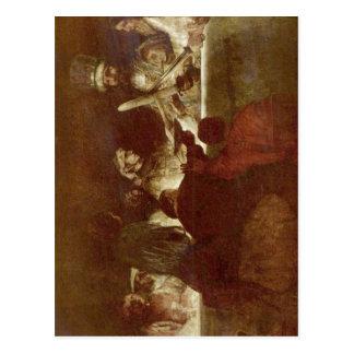 Rembrandt Harmensz. van Rijn Die Verschw? Sprosse Postkarte