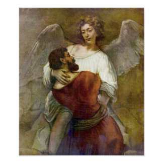 Rembrandt- - Jacobskampf mit dem Engel Plakatdrucke