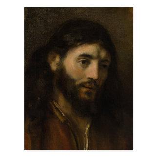 Rembrandt-Kopf von Porträts Christus CC0923 Jesus Postkarte