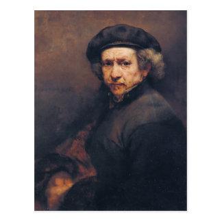 Rembrandt: Selbstporträt Postkarte
