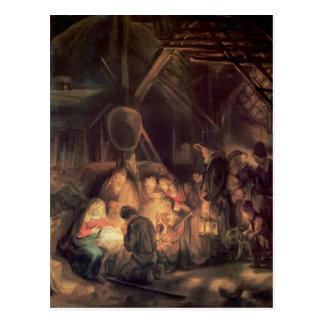 Rembrandt-Verehrung der Schäfer Postkarte