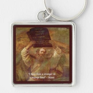 Rembrandts Moses u. biblisches Zitat Schlüsselanhänger