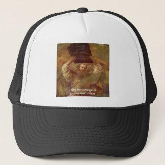 Rembrandts Moses u. biblisches Zitat Truckerkappe