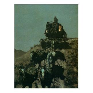 Remingtons alter Stagecoach der Ebenen (1901) Postkarte