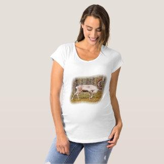 Ren, das in Wald geht Schwangerschafts T-Shirt