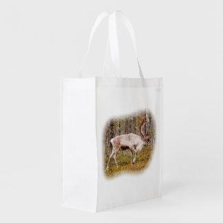 Ren, das in Wald geht Wiederverwendbare Einkaufstasche