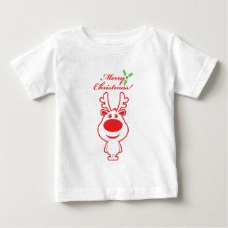 Ren der frohen Weihnachten Baby T-shirt