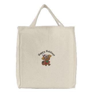 Ren-Feiertage gestickte Tasche