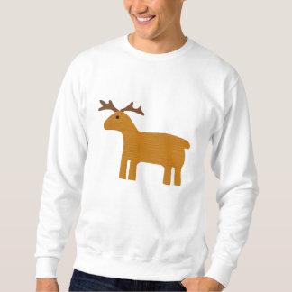 Ren gesticktes Sweatshirt