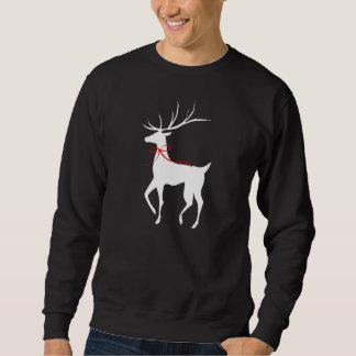 Ren mit rotem Bogen Sweatshirt