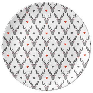 Ren! Porzellan-Platte Teller