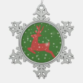 Ren-springende Schnee-Zinn-Schneeflocke-Dekoration Schneeflocken Zinn-Ornament