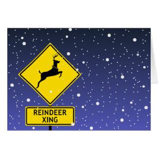 Ren-Überfahrt-Zeichen beim Nordpol Karte