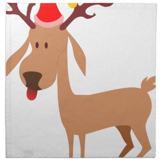 Ren-Weihnachtsfeiertags-Freude Serviette