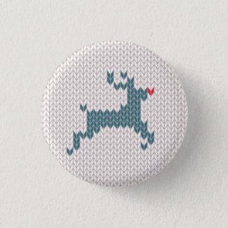 Ren-Weihnachtsstrickjacke-Knopf Runder Button 3,2 Cm