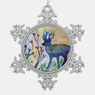 Ren-Zinn-Schneeflocke-Dekoration Schneeflocken Zinn-Ornament