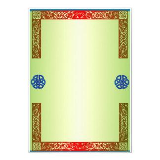 Renaisaince mittelalterliche Hochzeits-Einladung 12,7 X 17,8 Cm Einladungskarte