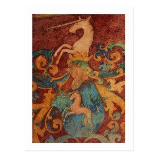 Renaissance-Einhornkunst Postkarte
