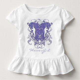 Renaissance-Hochzeits-Blumen-Mädchen-Rüsche Kleinkind T-shirt