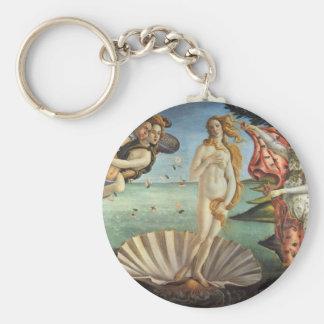 Renaissance-Kunst, die Geburt von Venus durch Standard Runder Schlüsselanhänger