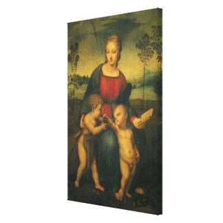 Renaissance-Kunst, Madonna des Goldfinch, RAPHAEL Leinwanddruck