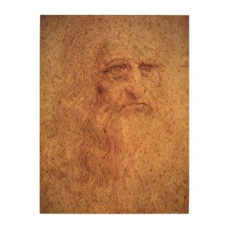Renaissance-Kunst-Selbstporträt durch Leonardo da Holzwanddeko