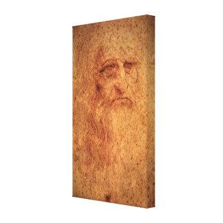 Renaissance-Kunst-Selbstporträt durch Leonardo da Leinwanddruck