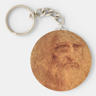 Renaissance-Kunst-Selbstporträt durch Leonardo da Schlüsselanhänger