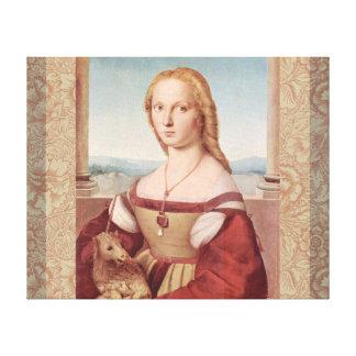 Rennaisance Einhorn und Dame Raphael Painting Leinwanddruck