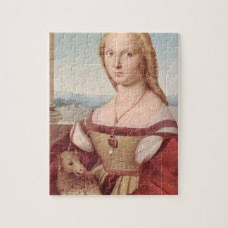 Rennaisance Einhorn und Dame Raphael Painting Puzzle