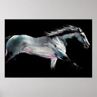 """""""RENNEN AUF"""" Pferderennen durch Shirley MacArthur Poster"""