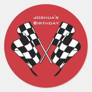 Rennen-Auto-Checkered Flaggen-Umschlag Aufkleber-A