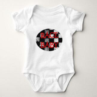 Rennen-Baby-Zielflagge-kundengerechter Bodysuit Baby Strampler