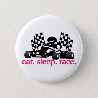 Rennen (gehen Kart) Runder Button 5,1 Cm